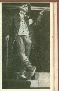 Gheorghe Dinică (Caion) în spectacolul Procesul domnului Caragiale de Mircea Ștefănescu- Teatrul de Comedie Bucureşti, data premierei: 06.06.1962
