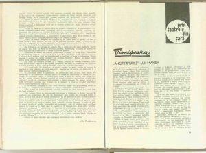 """Mihai Dimiu, Prin teatrele din ţară: Timişoara - """"Anotimpurile"""" lui Manea în Revista TeatrulNr. 4/1969, pp. 79-82"""