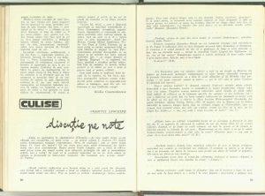 Discuţie pe note, Revista Teatrul nr. 7/1967