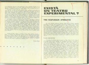 Există un teatru experimental, Revista Teatrul nr. 11/1967