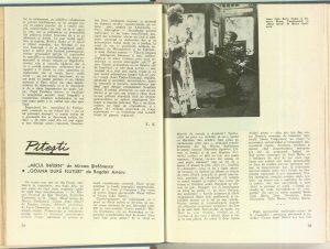 """Prin teatrele din ţară: Craiova - """"Hangiţa"""" de Carlo Goldoni, Revista Teatrul nr. 5/1968"""