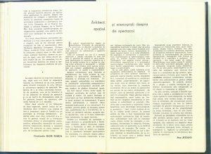 Arhitecţi şi scenografi despre spaţiul de spectacol (Nr. 5 - 1982)