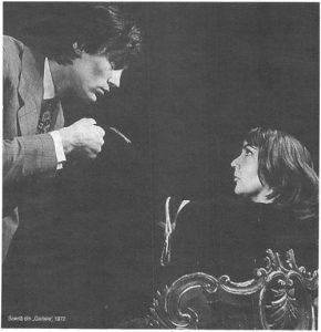 Gaițele – imagine din spectacolul Gaiţele, Teatrul Municipal - Turda, 13.04.1972, sursa foto: Revista Teatrul azi, Nr. 1,2/1999, pp. 40-41