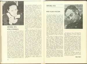 Maria Marin, Viitorul rol - Stela Popescu în revista Teatrul nr. 7/1976
