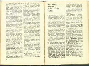 Spectacole pe care nu le veţi mai vedea (Nr. 10 - 1985)