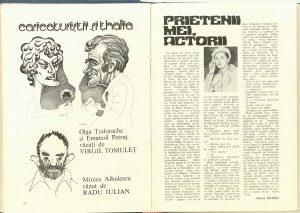 Fănuș Neagu, Prietenii mei, actorii. Stela Popescu în revista Teatrul nr. 5/1983