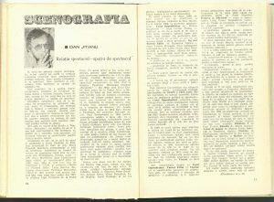 Relaţia spectacol - spaţiu de spectacol (Nr. 10 - 1985)