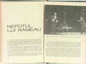 Mircea Alexandrescu, Nepotul lui Rameau în Revista Teatrul nr. 7/1968