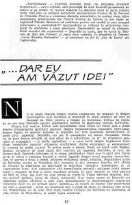 """Valeriu Moisescu, """"...Dar eu am văzut idei"""", în Teatru, nr. 10 / 1963, p. 62"""