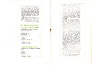 """Caiet program Bertoldo la curte de Massimo Dursi, regia Valeriu Moisescu, 1963, Teatrul de Stat Ploiești, sursa Arhiva Teatrului """"Toma Caragiu"""" din Ploiești"""