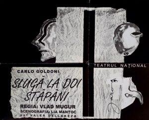 Coperta caietului program al spectacolului Sluga la doi stapani de Carlo Goldoni Teatrul National Craiova