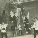 De Pretore Vincenzo de Eduardo De Filippo, regia Valeriu Moisescu, 1962, Teatrul de Stat Ploiești (sursa foto: Teatrul, nr. 5 / 1962)