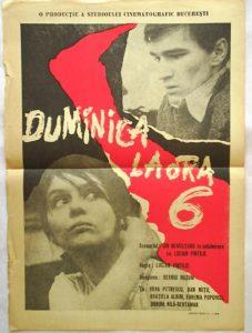 Duminica la ora 6, 1965, Lucian Pintilie, afiș România, sursă cinemagia.ro