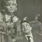 """Fii cuminte, Cristofor! de Aurel Baranga, regia Valeriu Moisescu, 1964, Teatrul """"Lucia Sturdza Bulandra"""" Bucureşti - Sala Izvor (sursa foto: Teatrul, nr. 1 / 1965)"""