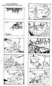 """Filmul Focul, pe care Valeriu Moisescu trebuia să-l regizeze în 1966 la Studioul Cinematografic București, a fost oprit în timpul filmărilor, pentru că regizorul nu a dorit să introducă în scenariu și luptele muncitorilor petroliști din 1929-1933. (Sursa foto: Valeriu Moisescu, Persistența memoriei, București, Fundația Culturală """"Camil Petrescu"""", Revista """"Teatrul azi"""" (supliment), 2007, p. 109)"""