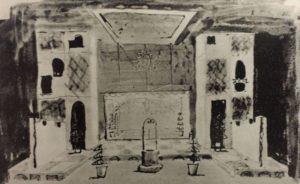 Giulești, schita decor Sanda Musatescu la Doi tineri din Verona