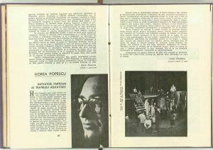 Horea Popescu Inovator, partizan al teatrului agitatoric Jules Perahim