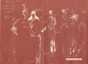 Schiţe de costume de Lia Molnar