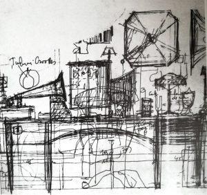 Pygmalion, 1974, schiță