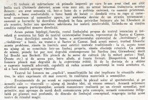 Despre Ionesco Teodorescu, Teatru, 1968, nr. 12