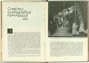 Gîndirea scenografică romînească azi, Teatrul, 1964