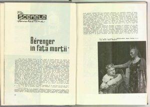 Berenger in fața morții, Teatrul, 1966