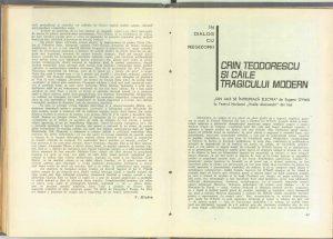 """""""Din jale se întrupează Electra"""", Teatrul, 1966"""