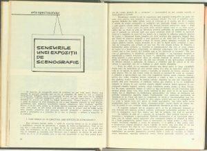 Sensurile unei expoziții de scenografie, Teatrul, 1967