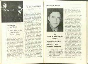 Dialog de atelier cu Paul Bortnovschi, Teatrul, 1977