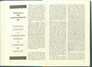 Trienala de scenografie, Teatrul, 1982
