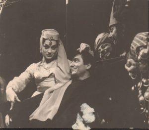 TNB 1962, Ioana Bulcă și C. Rauțchi în Cercul de cretă caucazian de Brecht