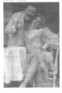 Viorica Mischilea și Bucur Stan în spectacolul Sub clar de lună, Teatrul Naţional 'Lucian Blaga' - Cluj-Napoca -30.01.1986 ( Revista Teatrul azi)