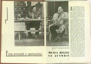 Forţa principală a spectacolului: munca regiei cu actorii (revista Teatrul: Nr. 9 - 1961)