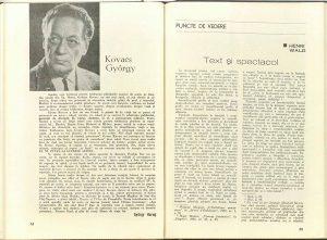 Kovacs György (revista Teatrul: Nr. 11 - 1977)