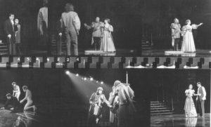 Scene din Hamlet, regia Alexandru Tocilescu, Teatrul Bulandra